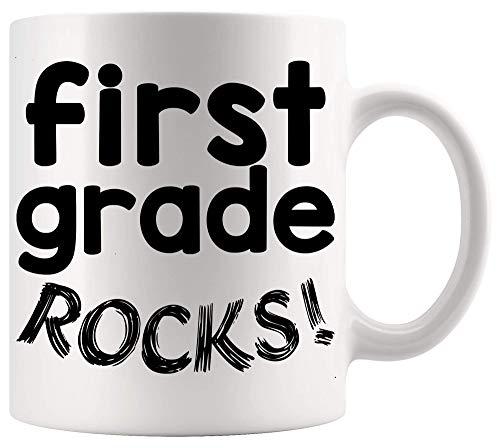 Taza de profesor Taza de enseñanza Rocas de primer grado Póster de oficina Divertidos profesores de primer grado Tazas divertidas Tazas