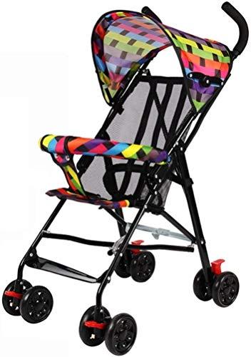 DAGCOT Cochecito cochecito de bebé puede sentarse reclinado Ultra Ligero simple portátil plegable paraguas del niño del bebé del cochecito infantil del verano del bebé de la carretilla (Color : Red)