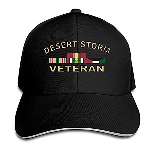 XCNGG Desert Storm Veteran con Cintas Bumper Trucker Cap Sandwich Hat Ajustable con Pico Unisex