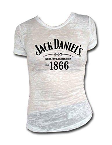 Jack Daniel Blanca 1866 de la quemadura de Las Mujeres Camiseta X-Large