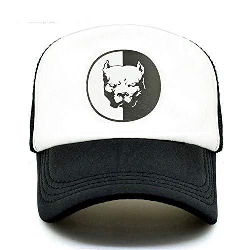 Cap Coole Pitbull Trucker Caps Bully Super Hero Hund Sommermütze Coole Dog Mesh Caps Schwarze Baseball Caps Hut für Männer Frauen