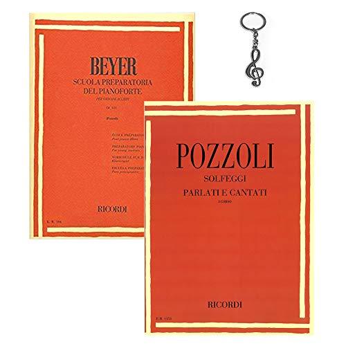 Beyer - Scuola Preparatoria del Pianoforte OP. 101, Pozzoli - Solfeggi parlati e cantati I° Corso con Portachiavi ffalstaff ® in Omaggio