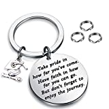 FUSTMW Graduation Gift Take Pride in How Far You Have Come Keychain Inspirational Letters Graduates Gifts for...