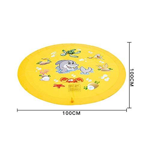 Gebuter Sprinkler Splash Play Mat for Kids Children Outdoor Lawn Water Splash Mat