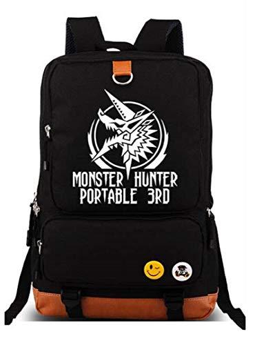 yoyoshome Anime Monster Hunter Cosplay luminoso Bookbag Mochila Bolso de escuela