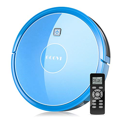Robot Vacuum, GOOVI by ONSON 1600Pa Robotic Vacuum Cleaner (Slim), Strong Suction&Multiple Clean Modes, Self-Charging Vacuum for Pet Hair, Hard Floor, Carpets - Blue Dining Features Kitchen Robotic Vacuums