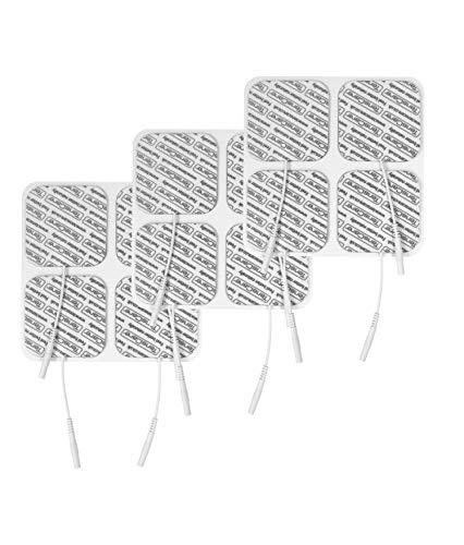 TensCare E-CM5050V - 12 electrodos para Electroestimulador Tens, 50x50 mm