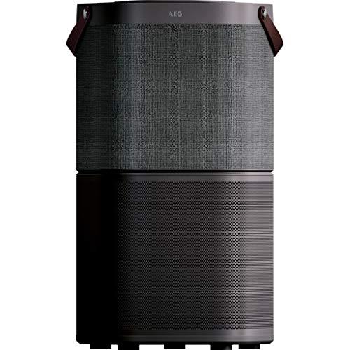 AEG AX91-404DG Luftreiniger (Beseitigt 99,9{62ef484a4aefca381574d7cd8430a755e73e5d0c3674d837df549395e748b643} luftgetragener Bakterien, nur 17 dB(A), Automatik-Modus, Luftqualitätsanzeige, leistungsstarke Filter, App-Steuerung, bis 92 m² Raumgröße, dunkelgrau)