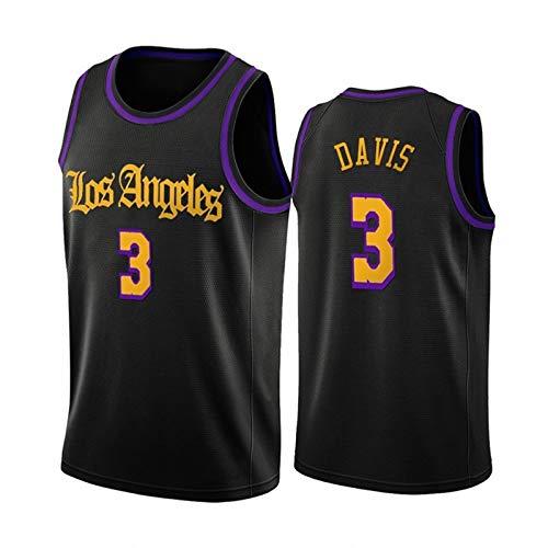 WEIXIA Camiseta de baloncesto para hombre y mujer, Lakers 3 Davis, para uniforme de baloncesto de los años 90, estilo hip hop, ropa para fiesta,