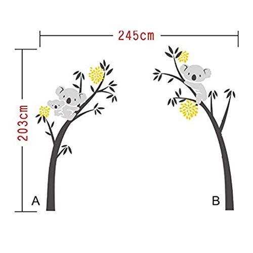 Muurstickers Twee Koala bomen, Een Generatie Van Gesneden Verwijderbare Persoonlijkheid Woonkamer Slaapkamer Slaapbank Achtergrond Muur Aanpassing