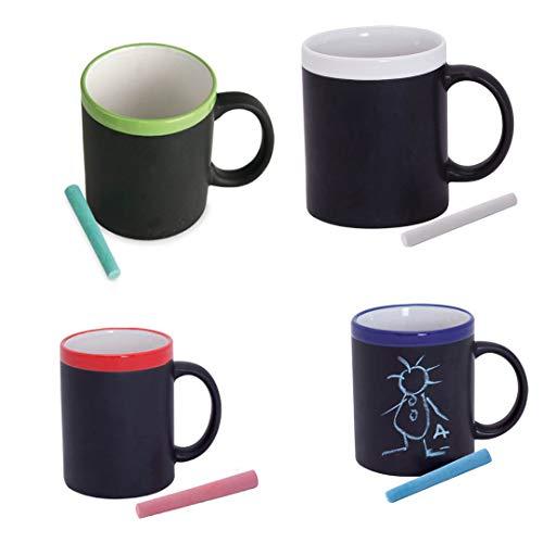 Lote de 36 tazas pizarra GÁRGOLA Tazas cafe Pizarra de cerámica desayunos Tazas Infantiles para Colorear con tizas, Pinturas. Regalos para Niños y niñas Cumpleaños y Detalles de Comuniones