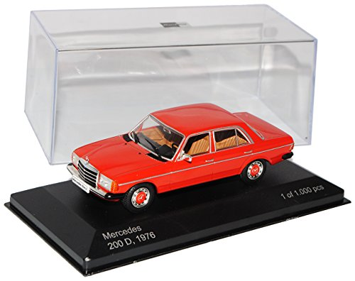 Whitebox Mercedes-Benz W123 200D E-Klasse Limousine Rot 1975-1986 1/43 Modell Auto mit individiuellem Wunschkennzeichen