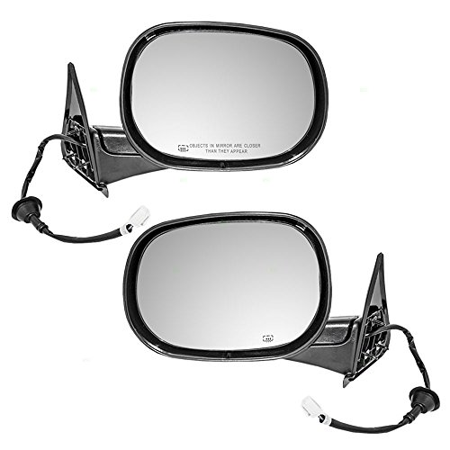 Driver and Passenger Power Side View Mirrors Heated Replacement for Dodge Pickup Truck 55076489AG 55076488AB AutoAndArt