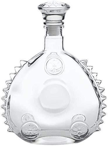 NIHAOA Krug Louis XIII Leere Weinflasche, Stil der 1920er Jahre Cognac oder Whisky, Sealed Glasweinflasche mit Deckel, 750 ml EIS-Skulptur (Color : -, Size : -)