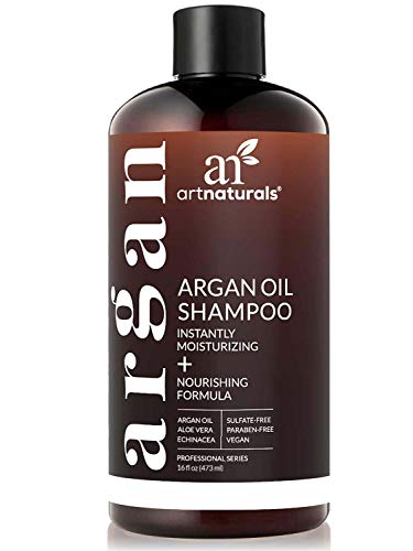 ArtNaturals Organic Moroccan Argan-Oil Shampoo - (16 Fl Oz / 473 ml) - Moisturizing, Volumizing Sulfate Free Shampoo for Women, Men - Used for Colored & All Hair Types, Anti-Aging Hair Care