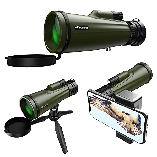 Monocular Telescope, 10-30x50 HD Upgraded High Power BAK4 Prism Waterproof Monocular, with Smartphone Holder & Tripod for Bird Watching Camping Hunting Concert Traveling Ball Game