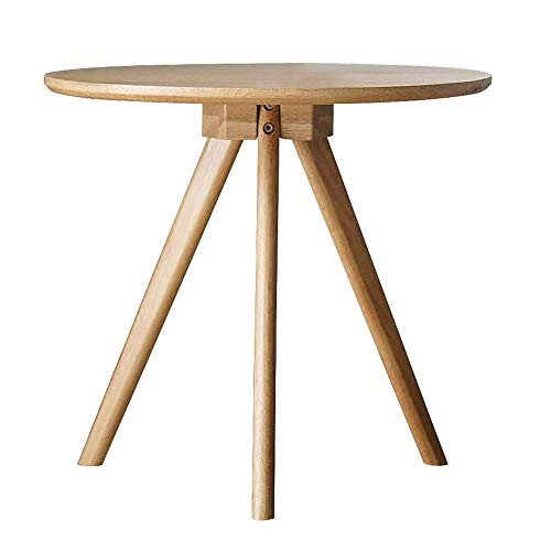 Simple Oak Corner Coffee Table Casual Accent Side Table, Easy to Assemble 45 * 50CM