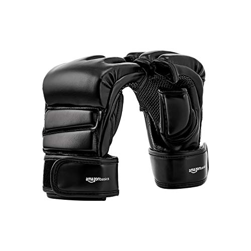 Amazon Basics - Guanti da MMA, S/M