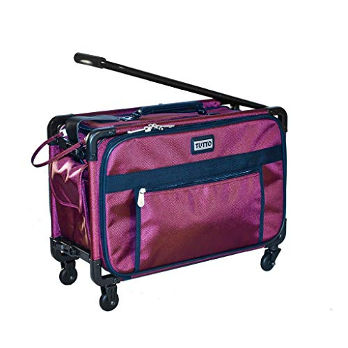 TUTTO 17 Inch Small Carry-On Luggage, Burgundy, One Size -  TUTTO Luggage, 4017RCO