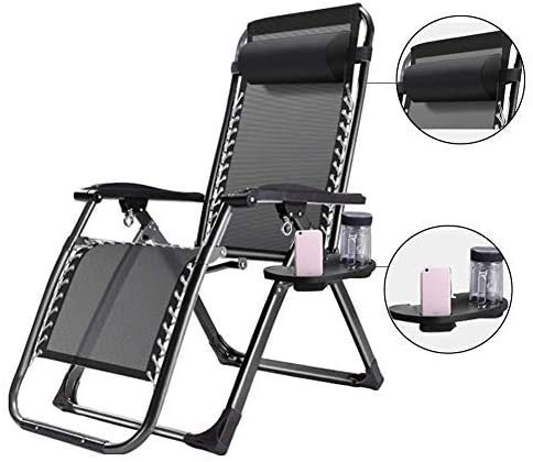 MLL Tumbona reclinable de Gran tamaño Sillas de Patio Reclinable Jardín al Aire Libre Playa Césped Camping Silla portátil para Personas Pesadas