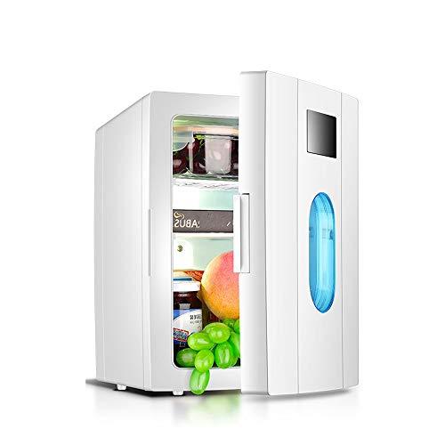 Refrigerador portátil compacto, mini refrigerador, refrigeradores personales, incluye enchufes para tomacorriente para el hogar y cargador de automóvil de 12 voltios, dormitorio para estudiantes, refr