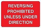 Viking signos pr1368-a2l-3m'Marcha Atrás prohibido a menos que bajo la dirección' signo, 3mm plástico rígido, 400mm H x 600mm W