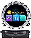 LINGJIE para BMW Mini Cooper R56 (2006-2013) Android 9.0 Sat Nav Headunit WiFi USB Carplay Mirror Link 9 Pulgadas Coche estéreo GPS navegación