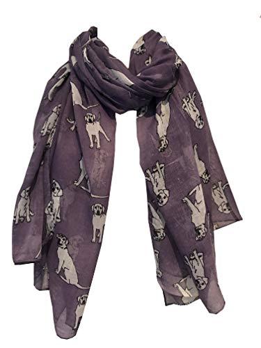 Pamper Yourself Now Skizzierten Labrador Hund Entwurfs-Schal Lila(Purple Sketched Labrador Dog Design Scarf)
