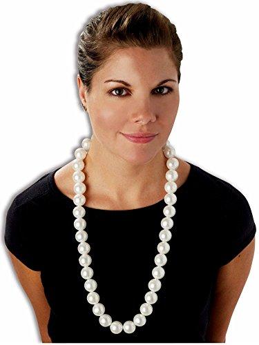 FORUM Collier de Grosses Perles Blanches - Taille Unique