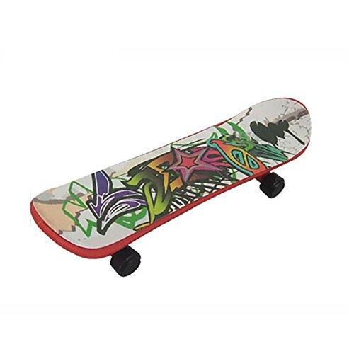 Newin Star newin-1Fingerboard aus Holz,Mini, coole Skateboard Komplett mit Lenkrad, Spielzeug, Geschenk für Kinder, Jungen Mädchen, Anfänger, Studenten, Sport-Liebhaber, zufällige Farbe