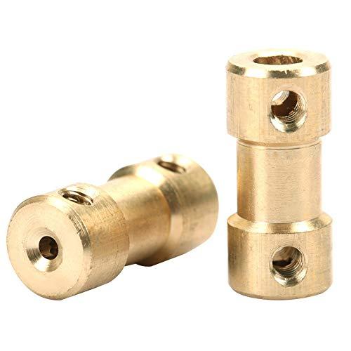 5 uds, Motor, eje de cobre, acoplamiento, acoplador, manga, conector, adaptador de junta de transferencia, hierro chapado en níquel para modelos de barcos, Robots(3mm-6mm)