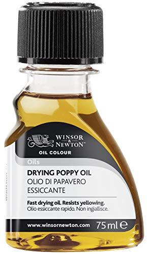 Winsor & Newton 3021743 Trocknendes Mohnöl, steigert den Glanz und die Transparenz von Ölfarben, 75ml Flasche