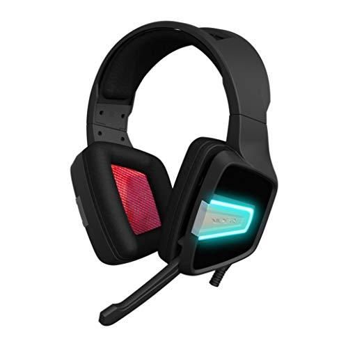 Patriot Viper Gaming V370 - gaming koptelefoon voor PC (40mm audiodriver, met virtueel 7.1-surround-geluid, RGB achtergrondverlichting, robuust frame en comfortabele oorkussen) zwart