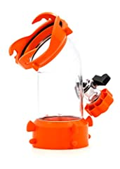 Direct jet allows water stream to rinse and flush RV sewer systems Rhino Blaster Tank Rinser securely attached to RV sewer outlet via bayonet swivel fitting Vacuum breaker prevents backflow into water hose Clear 45 degree elbow allows direct flow of ...