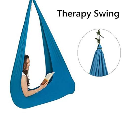 Indoor Therapy Swing für Kinder - Sensory Swing Swing ist ideal für Autismus und wirkt beruhigend auf Kinder mit sensorischen Bedürfnissen - inklusive elastischem Schaukeltuch + 2 Seilen + Karabiner