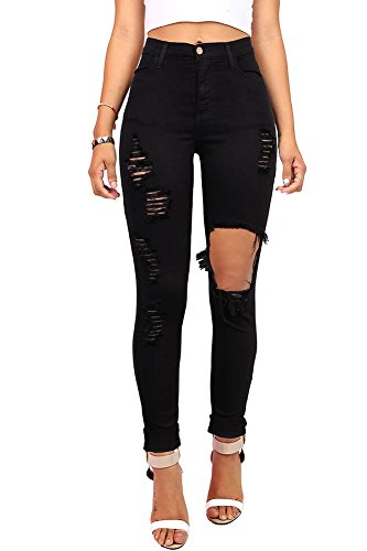 Pink Ice Women's Juniors Ripped New High Rise Skinny Jeans Size 1 Black
