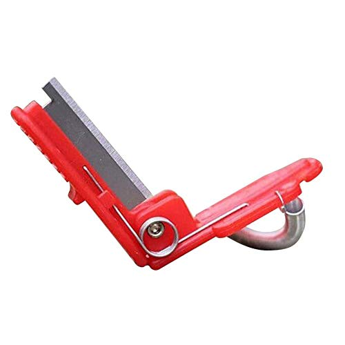 2 podadoras de jardín dispositivo de recogida de frutas multifunción cuchillo de pulgar seguro herramienta hoja de corte de la cuchilla anillos protector de dedo