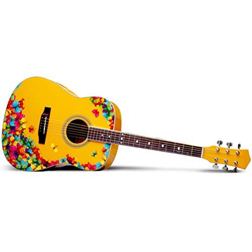 Guitarra folklórica, guitarra folk de 25 pulgadas, patrón de años de 41 pulgadas, principiantes para hombres y mujeres, serie de guitarras artísticas adecuadas para amantes de la música guitar