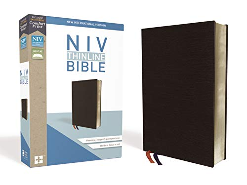 Compare Textbook Prices for NIV, Thinline Bible, Bonded Leather, Black, Red Letter Edition, Comfort Print Special ed. Edition ISBN 0025986448769 by Zondervan
