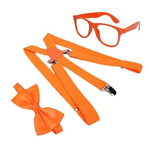 YiXing Juego de 4 piezas para disfraz, gorro, pajarita, gafas, decoracin de fiestas de cumpleaos, globos para nios (color: 3 piezas)