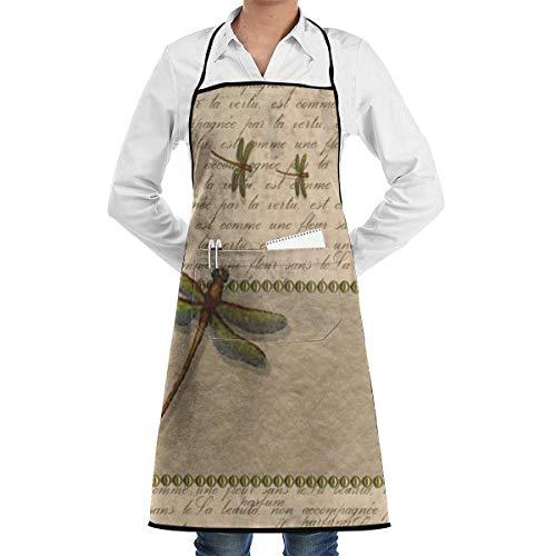 DayToy Schürze Kochschürze Küchenschürze Grillschürze LibelleSchürze zum Backen Garten Restaurant Grill mit 2 Taschen 20,5 x 28,4 Zoll