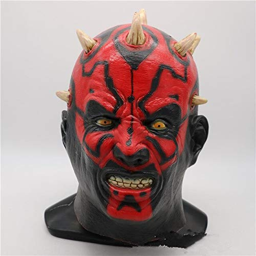 Latex Star Wars Movie Darth Maul Mask Full Head Scary Horror Halloween Head Mask For Costume Cosplay Party Ball Fancy Dress,as The Picture