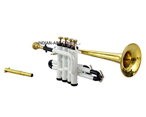 An-Nasir Ali Piccolo Trompete Bb Pitch, Weiß lackiert