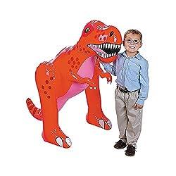 2. Fun Express Giant 4ft Inflatable T-Rex Dinosaur