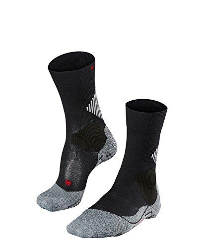 FALKE Unisex, 4 Grip Socken Stabilizing Sportsocke - Funktionsfaser mit Kompressionszone zur Stabilisierung des Knöchels, Schwarz (Black-Mix 3010), 37-38, 1er Pack