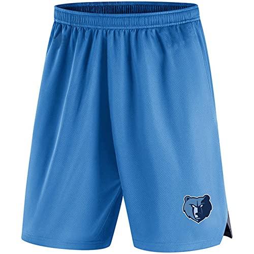 Camiseta de Baloncesto para Hombre Camiseta de los Grizzlies de la NBA Camiseta Azul de Manga Corta Pantalones Cortos Casuales, XL