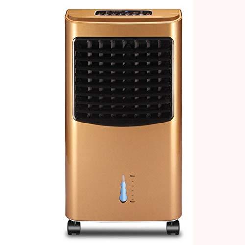 Silent thuis elektrische ventilator Huishoudelijke airco ventilator/mobile/met afstandsbediening/timing cooler/watergekoelde draagbare airco ventilator Floor fan (Color : Gold)