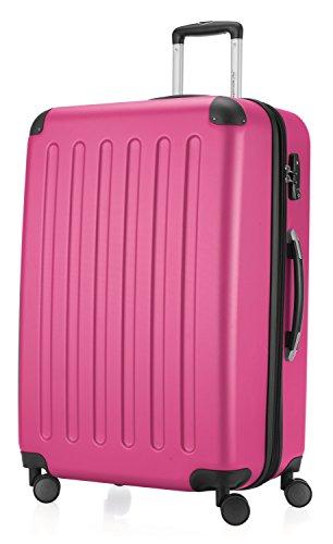 Hauptstadtkoffer - Spree - Hartschalen-Koffer Koffer Trolley Rollkoffer Reisekoffer Erweiterbar, 4 Rollen, TSA, 75 cm, 119 Liter, Magenta