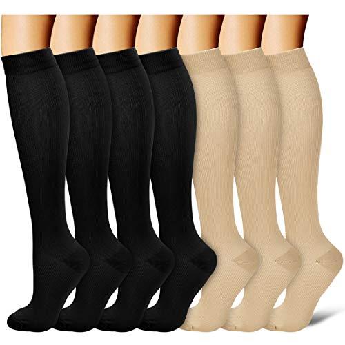 Copper Compression Socks Women & Men - Best for Running,Medical,Athletic Sports,Flight Travel, Pregnancy