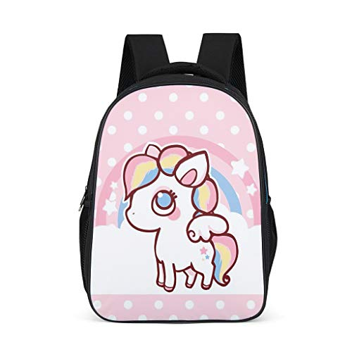 Uicoomhill Rugzak voor meisjes coole schoolrugzakken volksschool schooltas dagrugzak kinderen laptop rugzak dames, eenhoorn